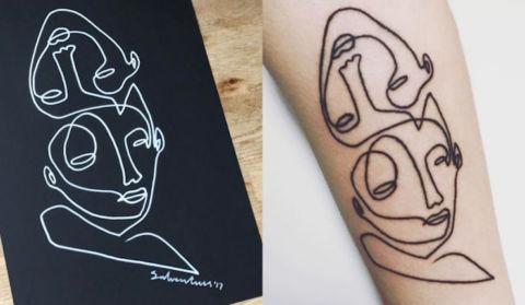 tatouage 1 ligne