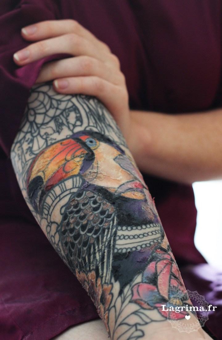 tatouage 4 jours apres