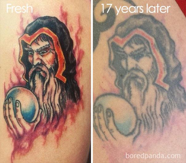 tatouage 5 ans apres