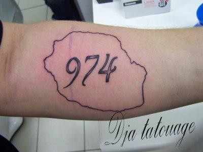 tatouage 974 ile reunion
