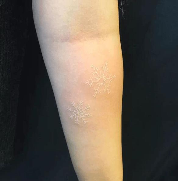 tatouage blanc