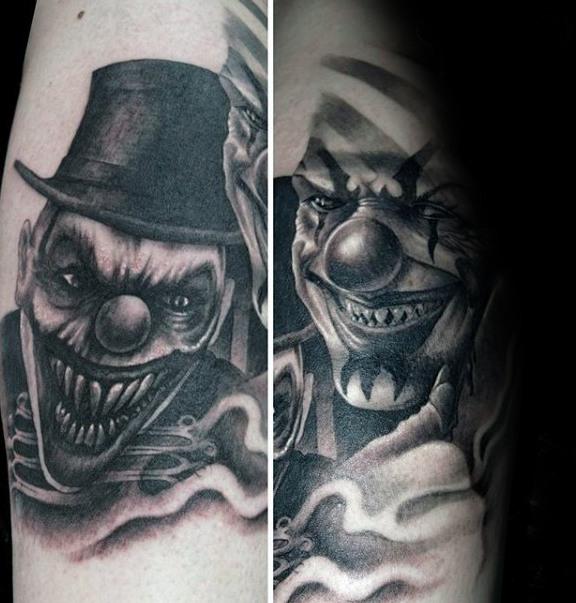 tatouage ca le clown