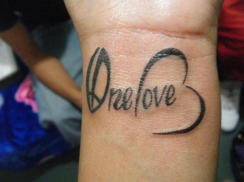 tatouage d'amour