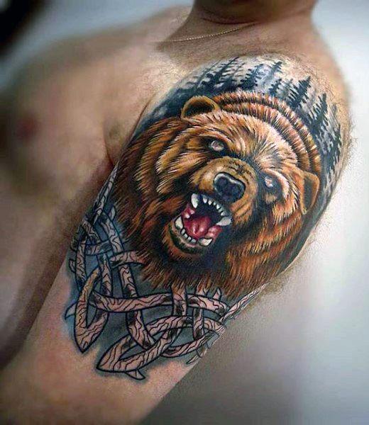 tatouage d'ours