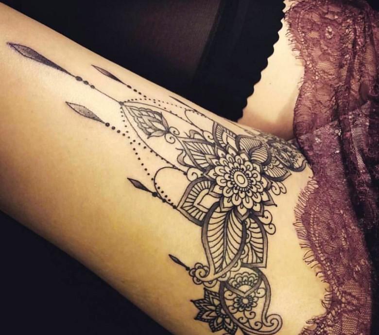 tatouage dentelle