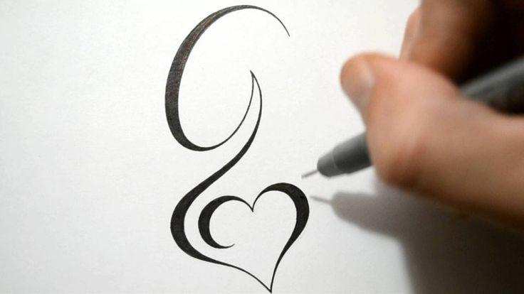 tatouage g coeur