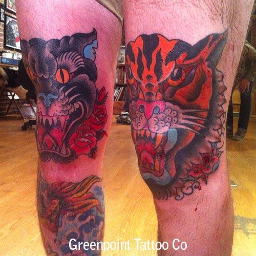 tatouage genoux