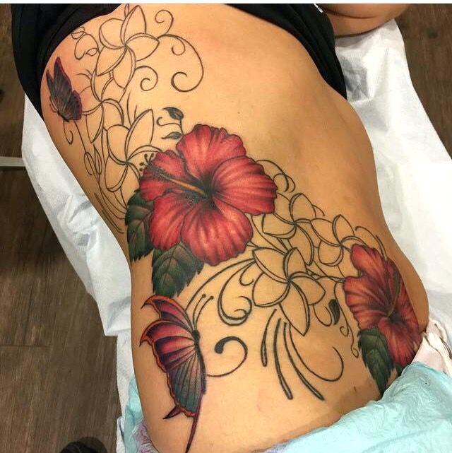 Tatouage Hibiscus