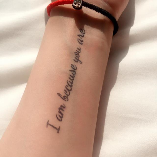 tatouage i am because you are