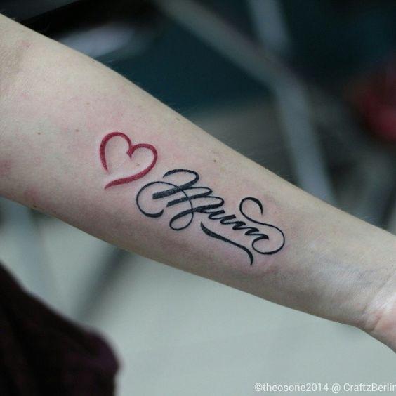 tatouage i love maman