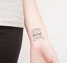 tatouage i love you to the moon and back