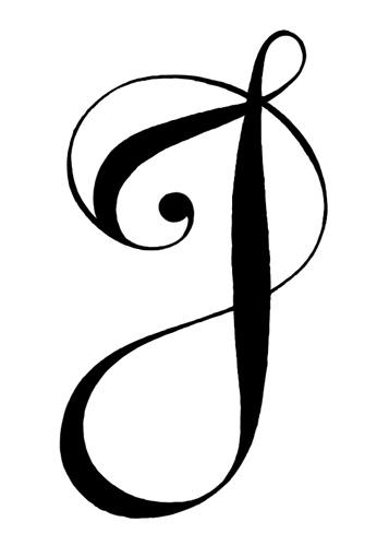 tatouage j lettre