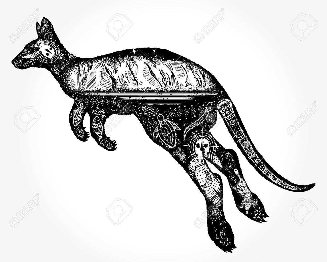 tatouage kangourou