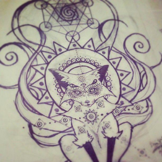 tatouage kitsune
