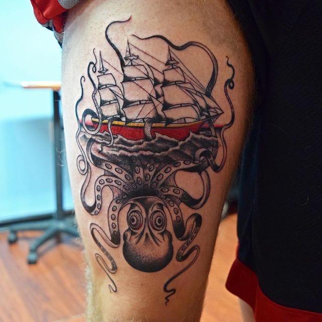 tatouage kraken