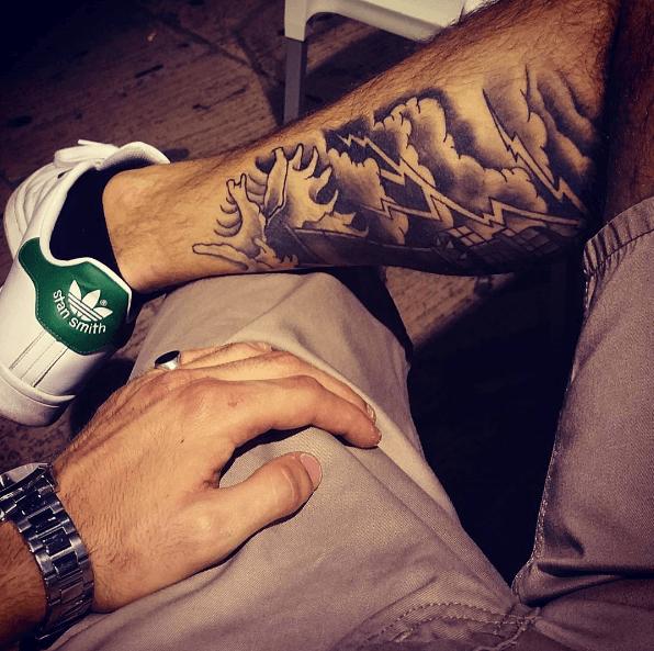tatouage mollet homme