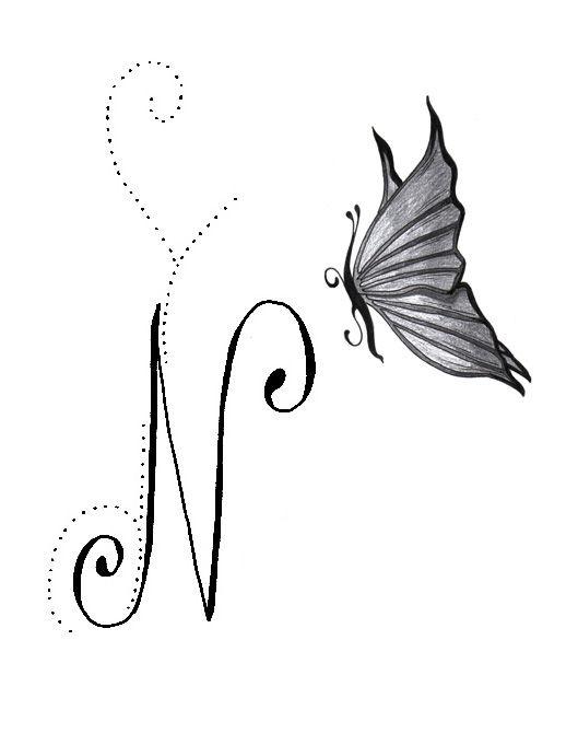 Tatouage N Majuscule