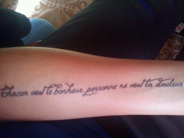 tatouage n'oublie jamais