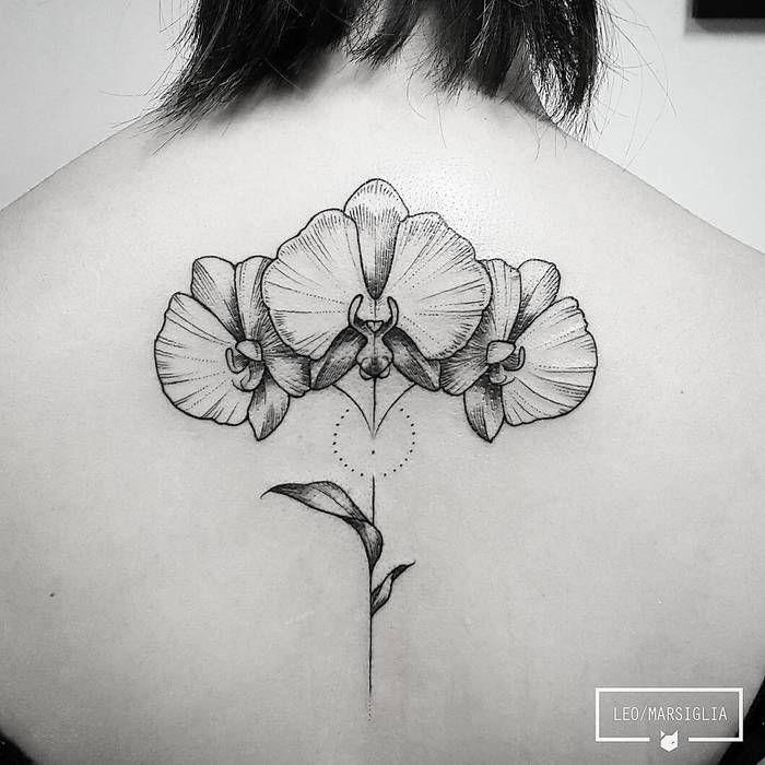 tatouage orchidee