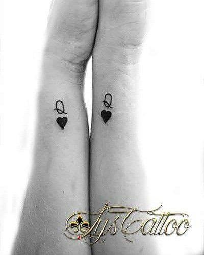 tatouage q coeur