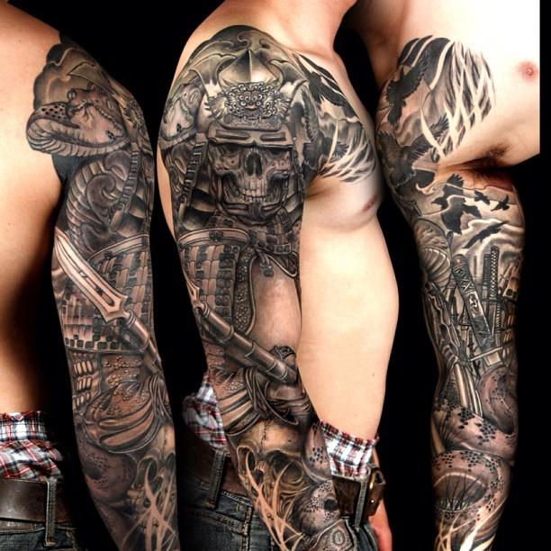 tatouage samourai