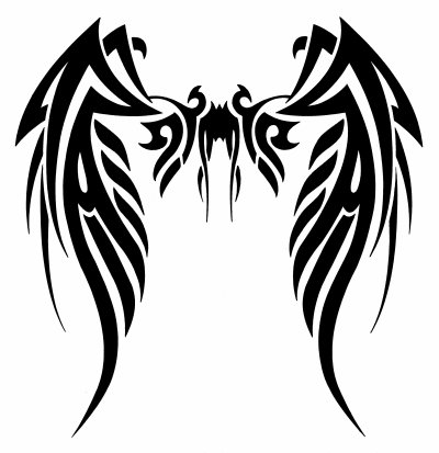 tatouage tribal ailes