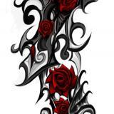 Tatouage Tribal Avec Rose