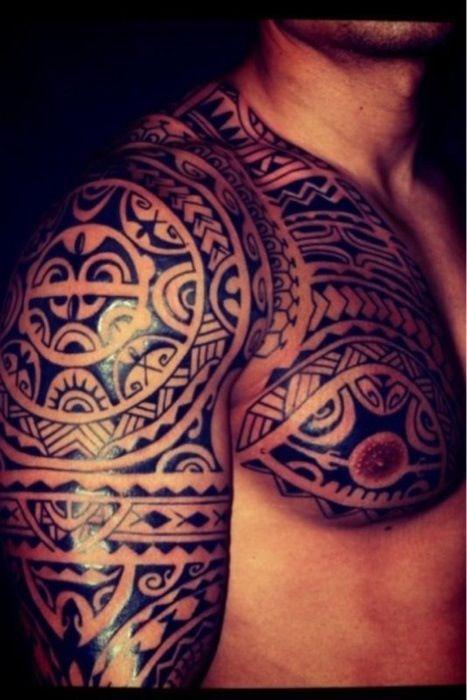Tatouage Tribal Epaule Bras Tatouage
