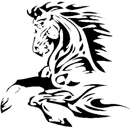 tatouage tribal cheval