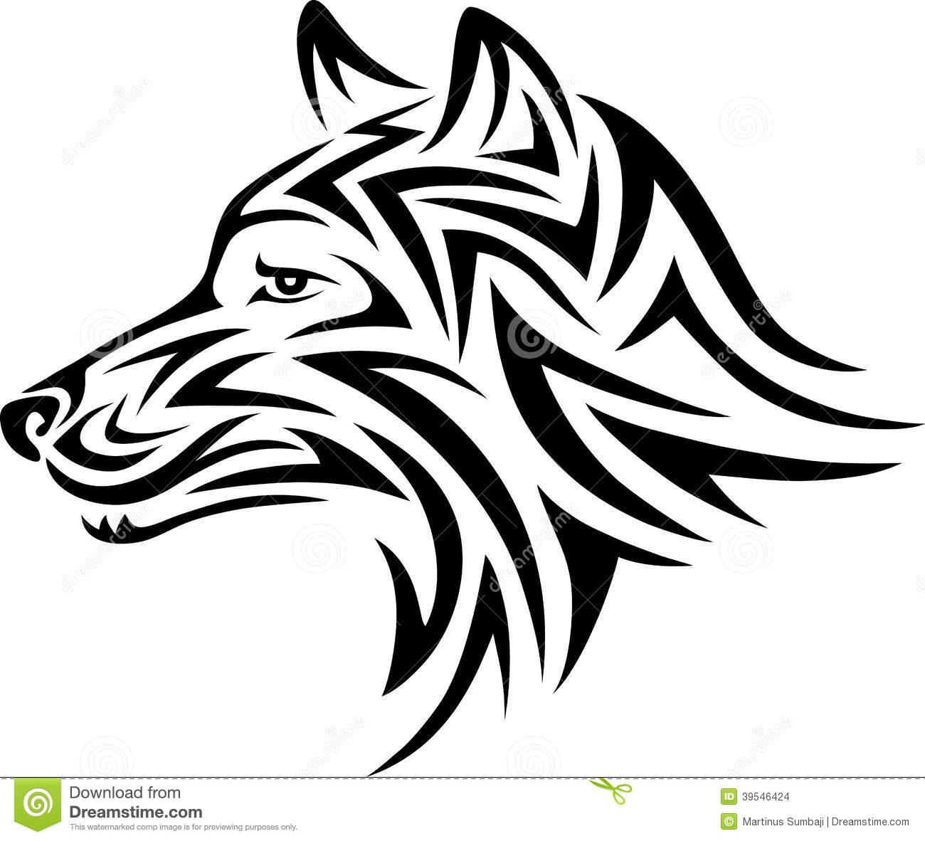 tatouage tribal chien