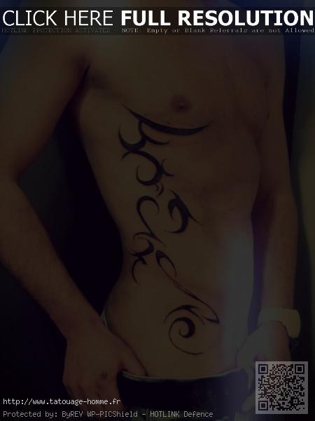 tatouage tribal cote homme