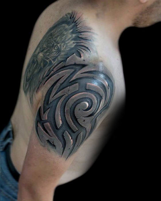 tatouage tribal en 3d