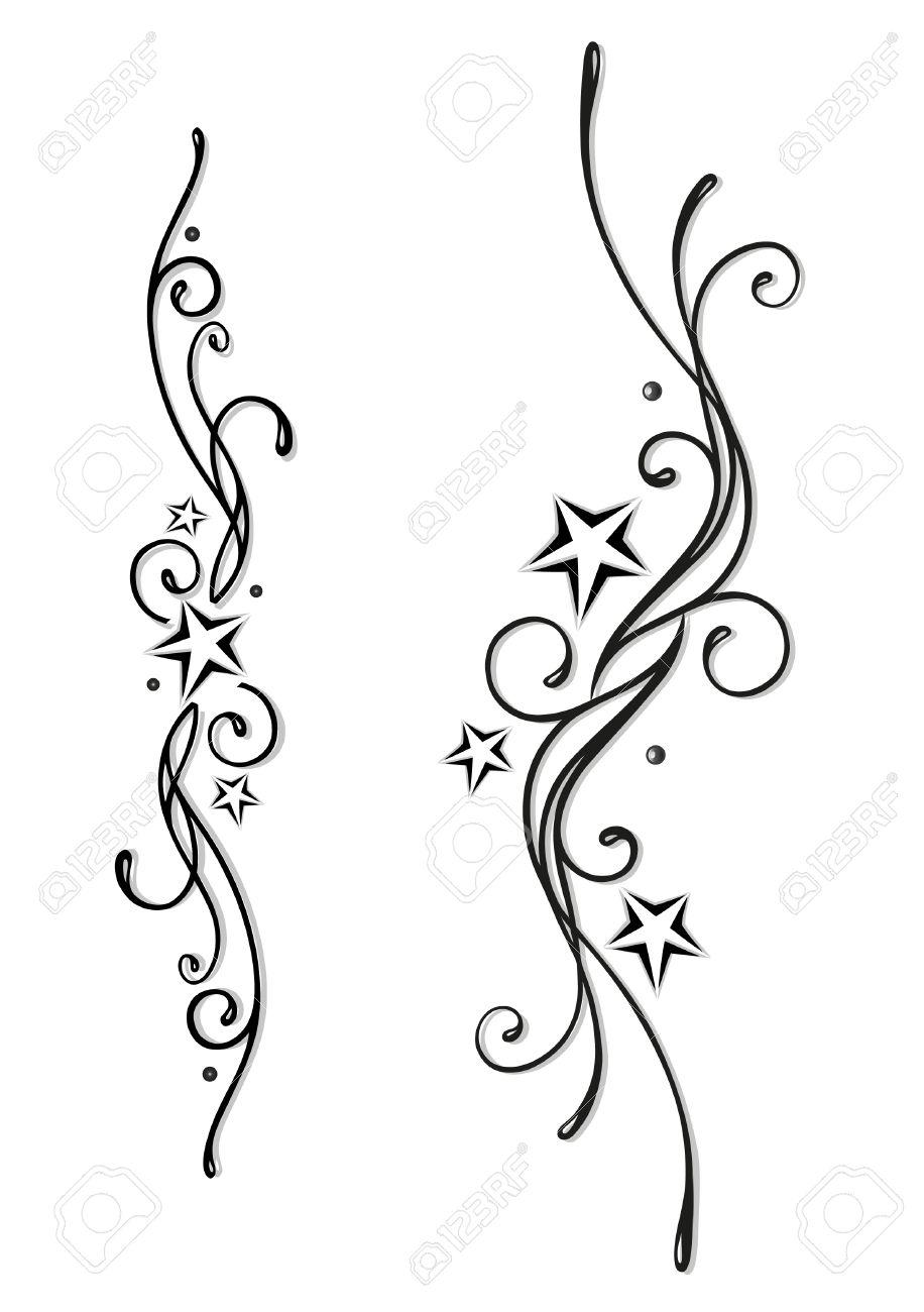 tatouage tribal etoile femme