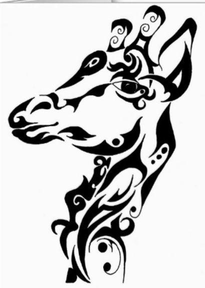 tatouage tribal girafe