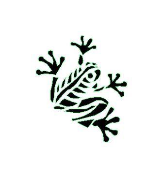 tatouage tribal grenouille