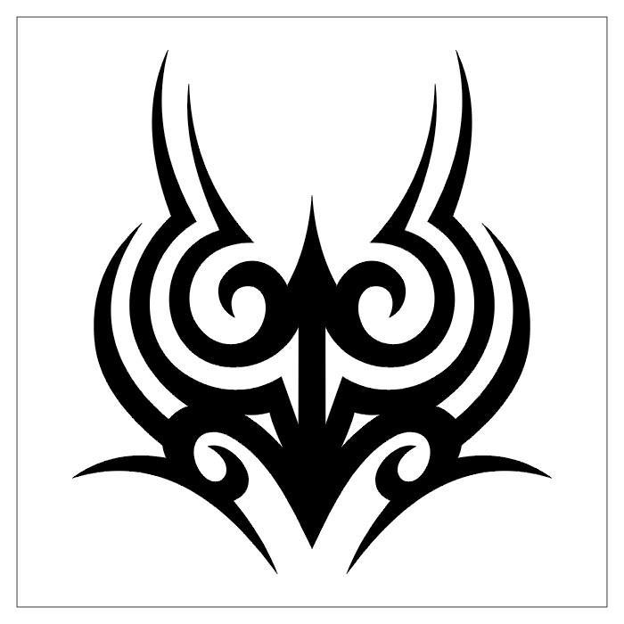 tatouage tribal noir et blanc. Black Bedroom Furniture Sets. Home Design Ideas