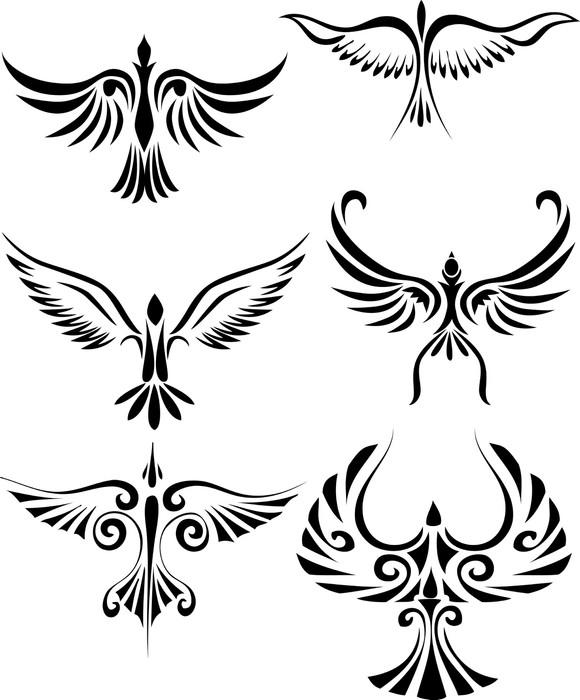tatouage tribal oiseau