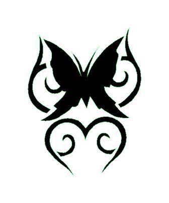 tatouage tribal papillon