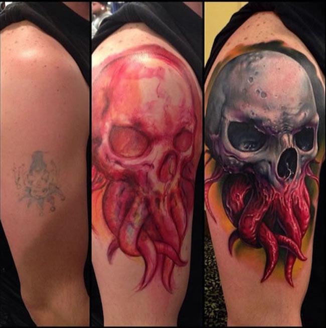 tatouage tribal refait