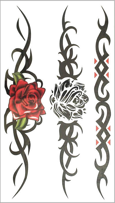 tatouage tribal rose femme