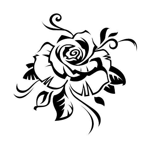 tatouage tribal rose femme