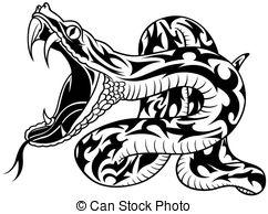 tatouage tribal serpent