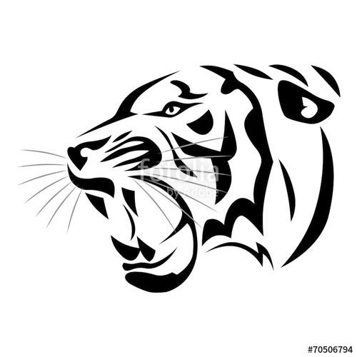 tatouage tribal tigre