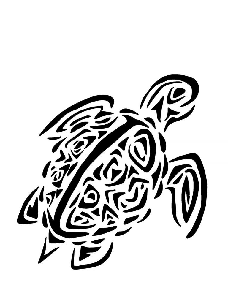 tatouage tribal tortue de mer