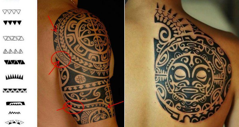 tatouage tribal vegetal