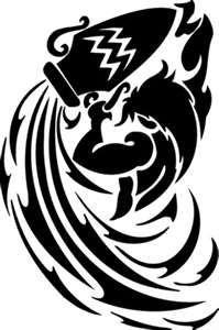 tatouage tribal verseau
