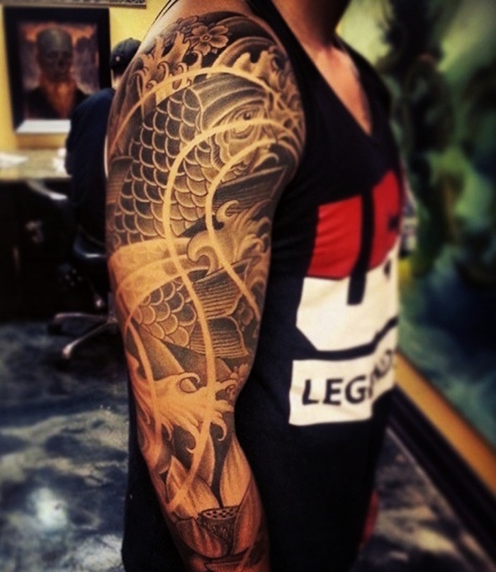 tatouage yakuza bras