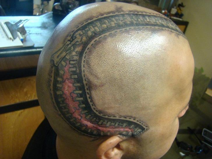 tatouage zip