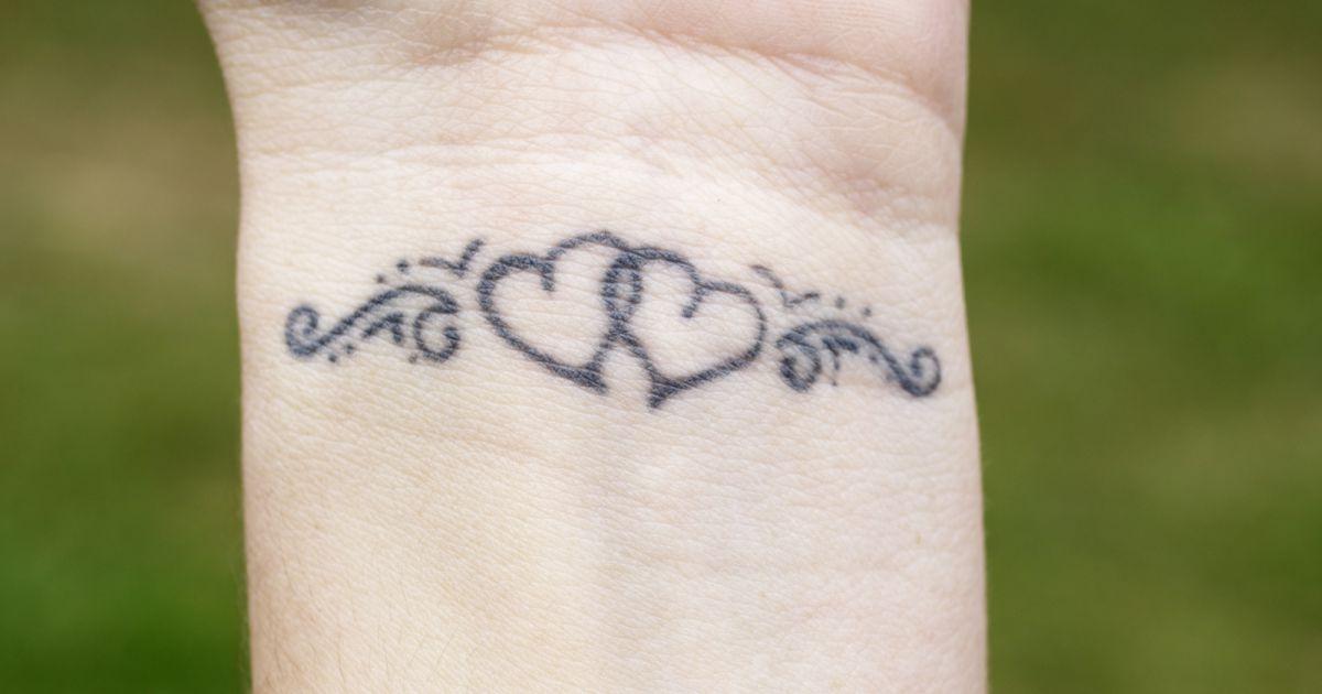 tatouage 2 coeurs