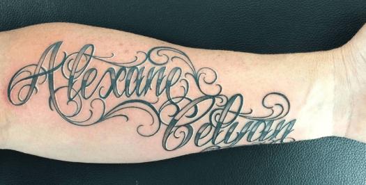 tatouage 2 prenoms